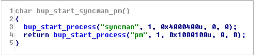 Figure 7. Starting SYNCMAN and PM
