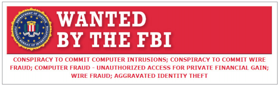 Fragment of the FBI announcement regarding search for cybercriminals