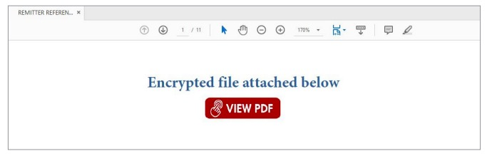 Figure 18. PDF file with a link to a malicious code